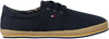Blauwe TOMMY HILFIGER Veterschoenen CANVAS LACE UP ESPADRILLE - small