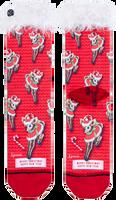Rode XPOOOS Sokken XMAS FURRY SANTA  - medium