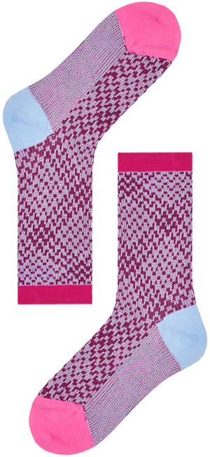 Roze HAPPY SOCKS Sokken HYSTERIA ROSA CREW SOCK  - large