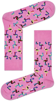 Roze HAPPY SOCKS Sokken FLAMINGO  - medium