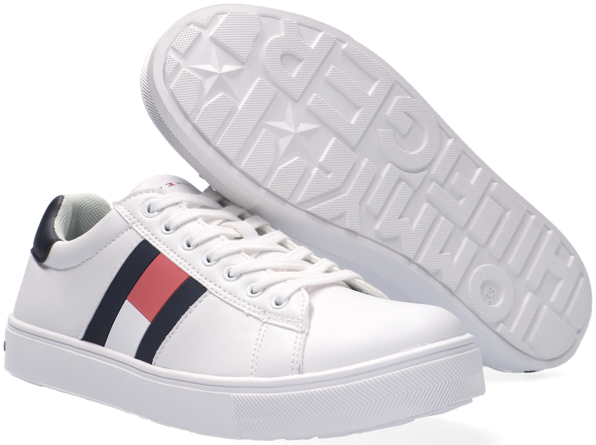 Witte TOMMY HILFIGER Lage sneakers 30921  - larger