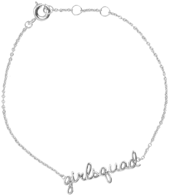 Zilveren ATLITW STUDIO Armband URBAN BRACELET GIRLSQUAD - large