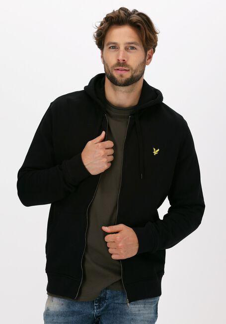 Zwarte LYLE & SCOTT Vest ZIP THROUGH HOODIE - large