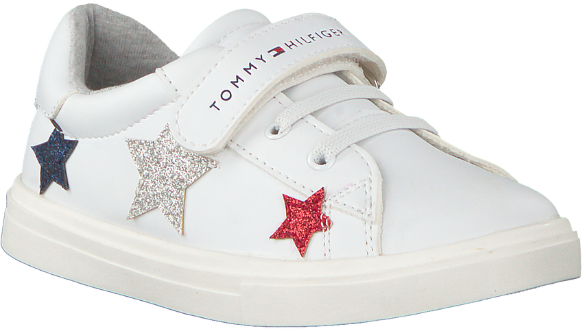 Witte TOMMY HILFIGER Sneakers LOW CUT LACE UP/VELCRO  - larger