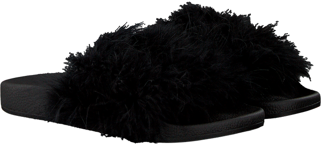 Zwarte THE WHITE BRAND Slippers FEATHERS - large