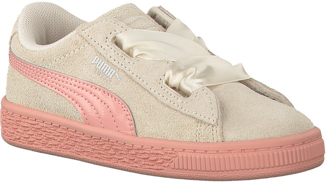 Beige PUMA Sneakers SUEDE HEART JEWEL INF  - large