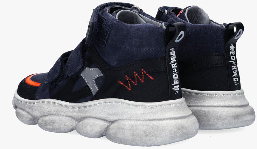 Blauwe RED-RAG Hoge sneaker 13507  - larger
