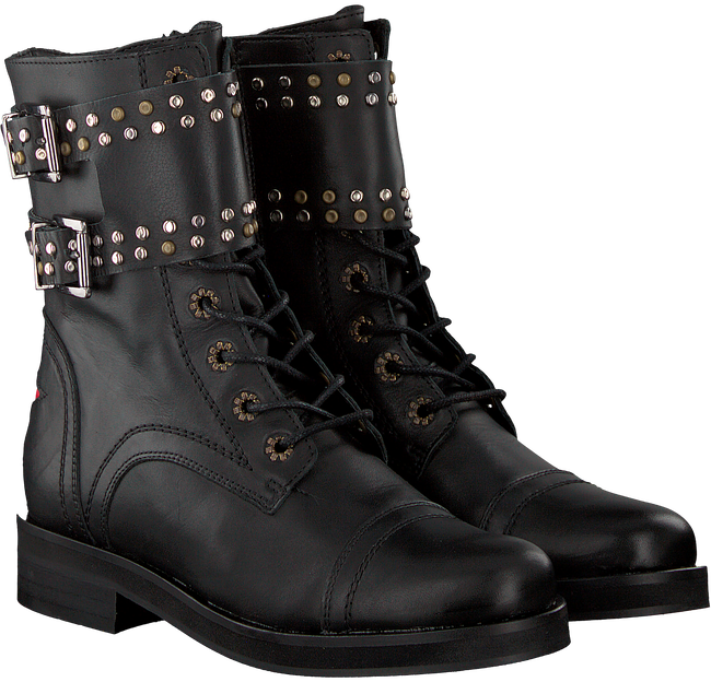 Zwarte DEABUSED Biker boots HOLLY BIKER - large