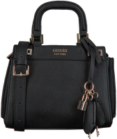 Zwarte GUESS Schoudertas KATEY MINI SATCHEL  - medium