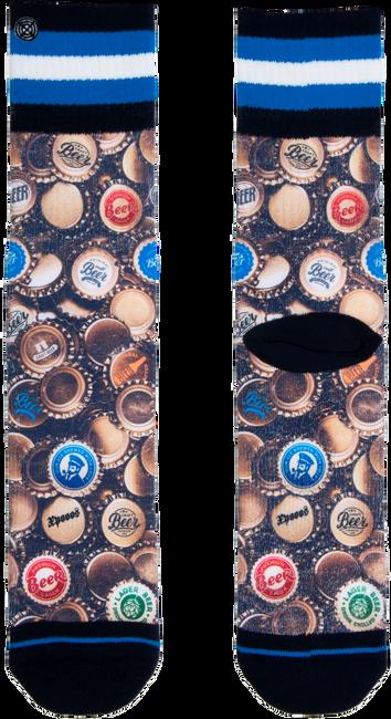 Blauwe XPOOOS Sokken BEERCAPS  - large