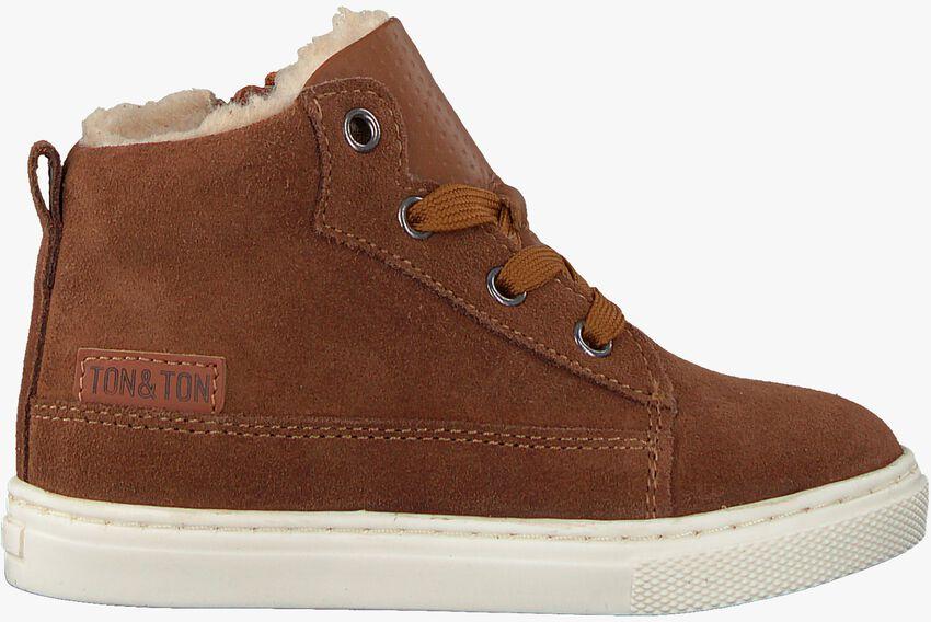 Cognac TON & TON Hoge sneaker PL20W017  - larger