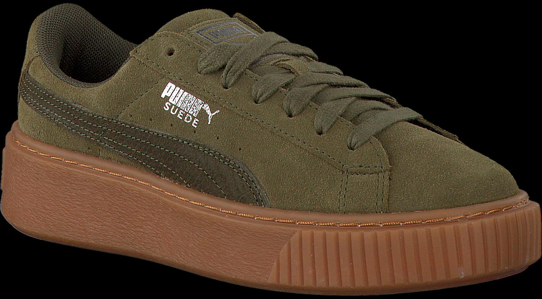 Groene PUMA Sneakers SUEDE PLATFORM ANIMAL | Omoda