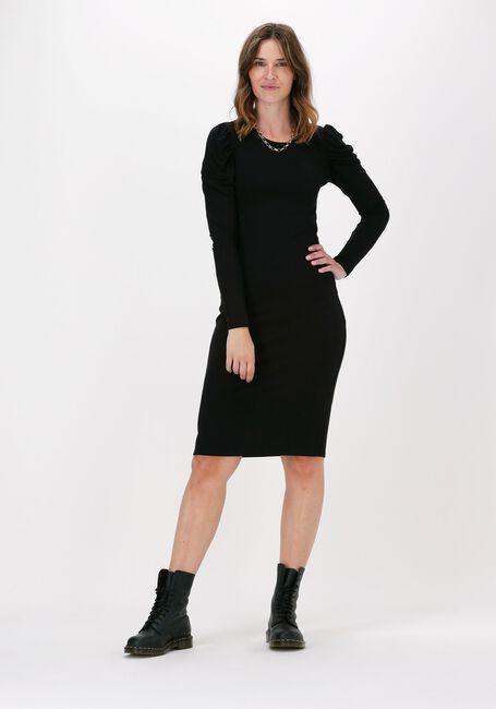 Zwarte MODSTRÖM Midi jurk LENA DRESS - large