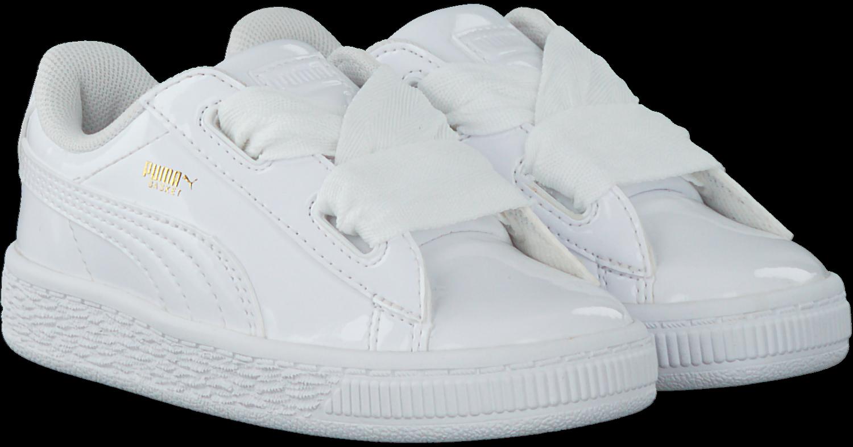 57d1483d966 Witte PUMA Sneakers BASKET HEART PATENT KIDS - Omoda.nl