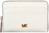 Witte MICHAEL KORS Portemonnee MONEY PIECES ZA COIN CARD CASE  - small