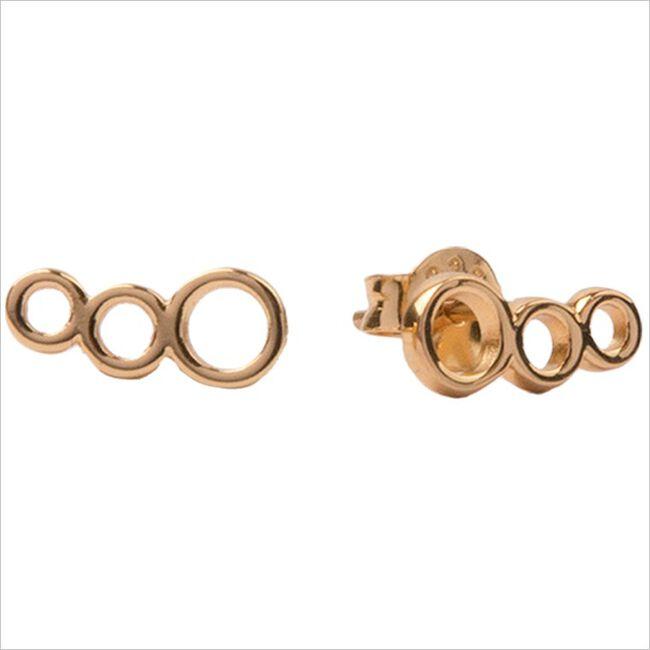 Gouden ATLITW STUDIO Oorbellen PARADE EARRINGS THREE CIRCLES  - large