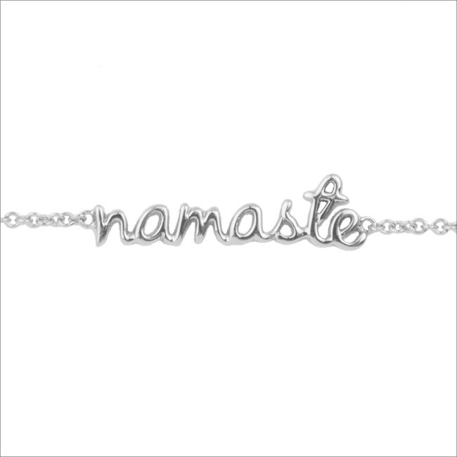 Zilveren ALLTHELUCKINTHEWORLD Armband URBAN BRACELET NAMASTE - large
