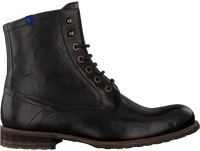 Zwarte FLORIS VAN BOMMEL Veterboots 10751  - medium