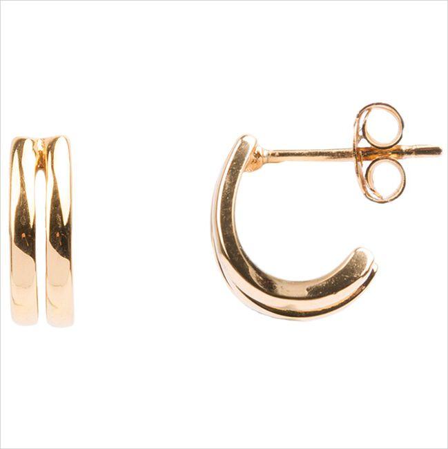 Gouden ATLITW STUDIO Oorbellen BLISS EARRINGS 2 SPLIT  - large