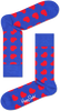 Blauwe HAPPY SOCKS Sokken DIAGONAL HEART - small