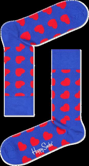Blauwe HAPPY SOCKS Sokken DIAGONAL HEART - large