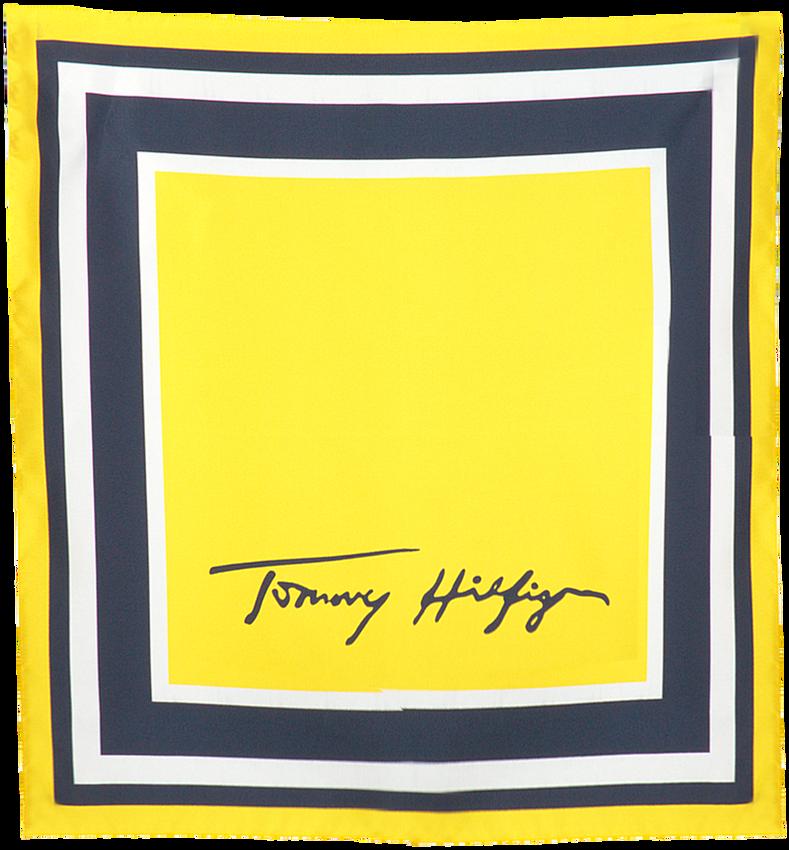 Gele TOMMY HILFIGER Sjaal SIGNATURE SILK FOULARD  - larger