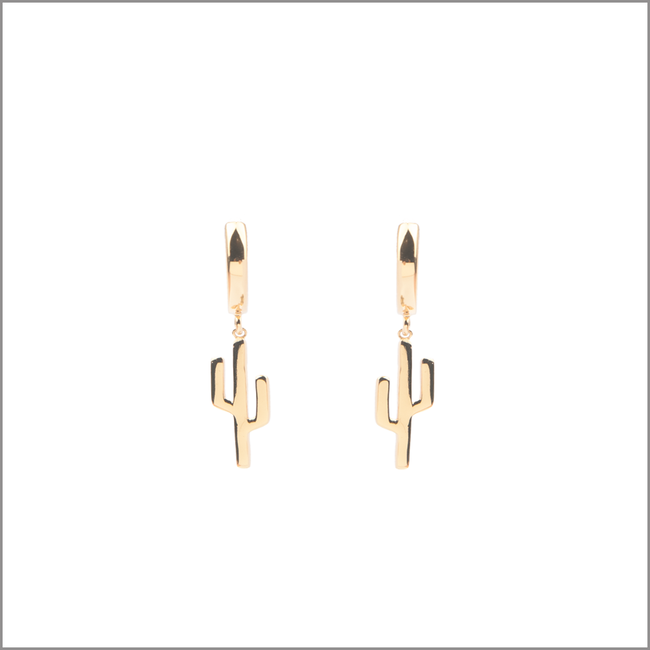 Gouden ATLITW STUDIO Oorbellen SOUVENIR EARRINGS CACTUS - large