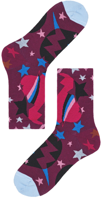 Paarse HAPPY SOCKS Sokken HYSTERIA VIOLA ANKLE SOCK  - large