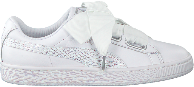 Witte PUMA Sneakers BASKET HEART OCEANAIRE - large