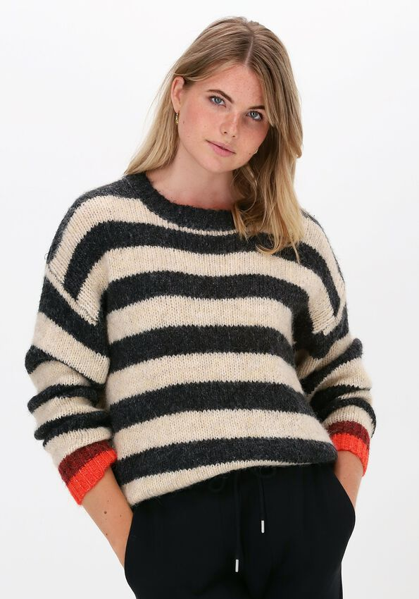 Antraciet LOLLY'S LAUNDRY Trui TERRY JUMPER  - larger