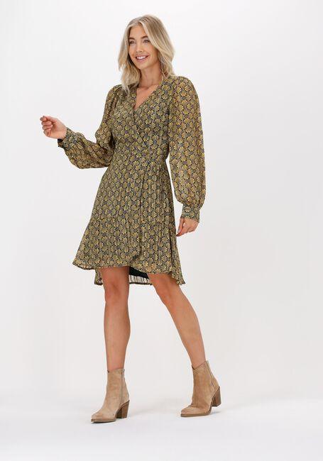 Gele FREEBIRD Mini jurk BORA LS - large