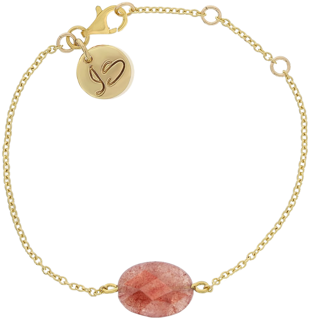 Roze JEWELLERY BY SOPHIE Armband GEMSTONE BRACELET - large