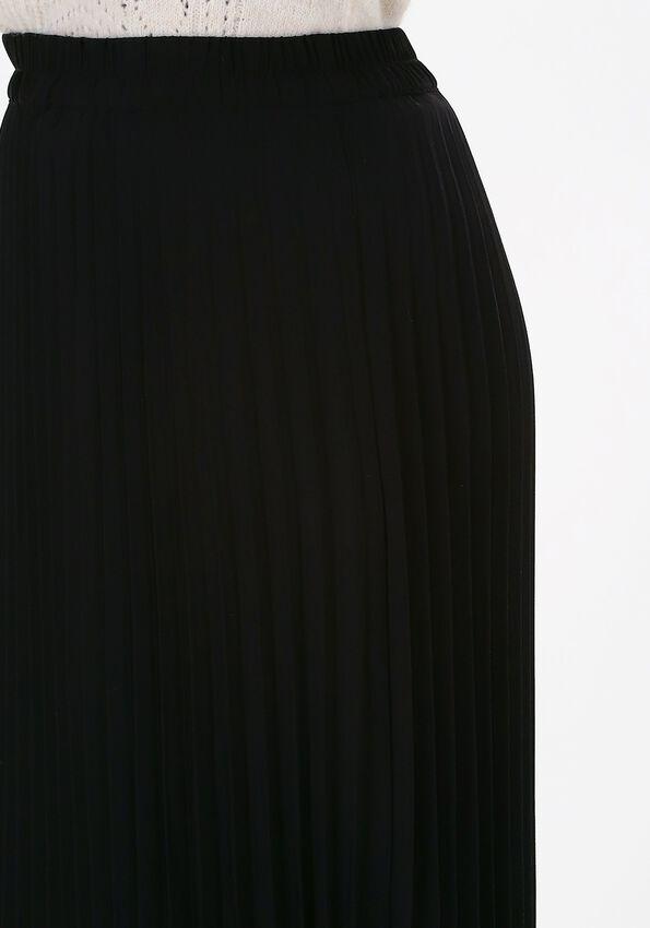 Zwarte SELECTED FEMME Plissé rok ALEXIS MW MIDI SKIRT - larger