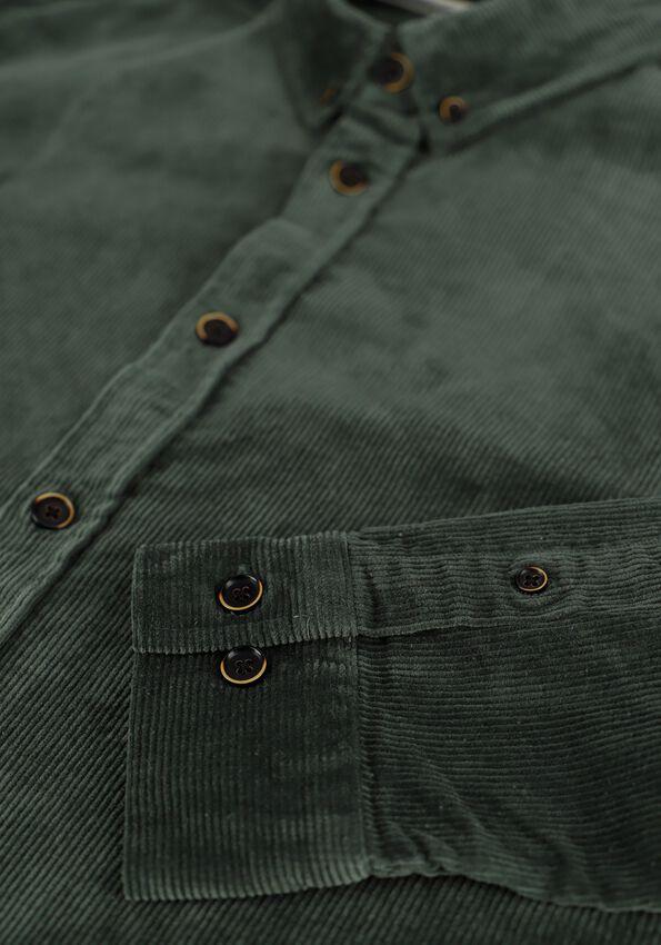 Donkergroene ANERKJENDT Casual overhemd AKKONRAD CORD SHIRT - larger