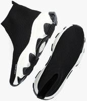 Zwarte KURT GEIGER LONDON Hoge sneaker LETTIE KNIT SOCK - medium