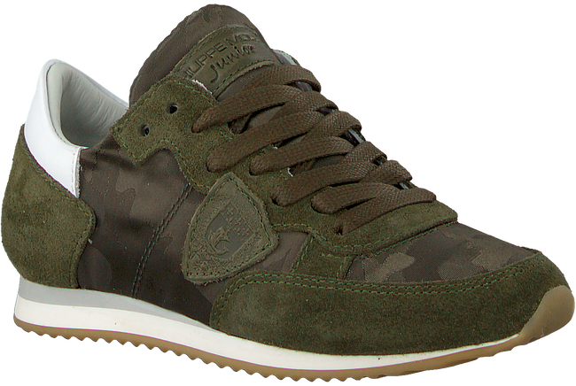 Groene PHILIPPE MODEL Sneakers TROPEZ CAMOUFLAGE  - large