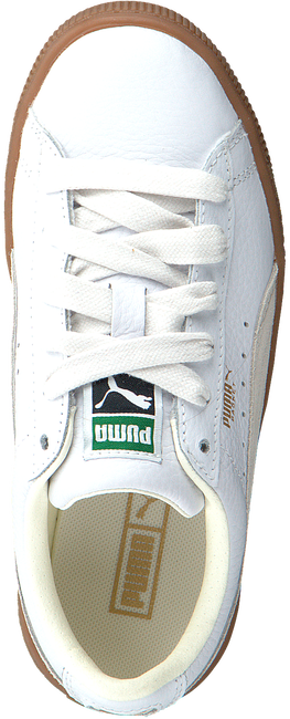 Witte PUMA Sneakers BASKET CLASSIC GUM DELUXE PS - large