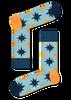 Blauwe HAPPY SOCKS Sokken NAUTICAL STAR SOCK  - small