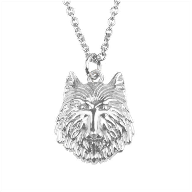 Zilveren ALLTHELUCKINTHEWORLD Ketting SOUVENIR NECKLACE WOLF - large