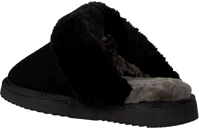 Zwarte WARMBAT Pantoffels FLURRY  - large