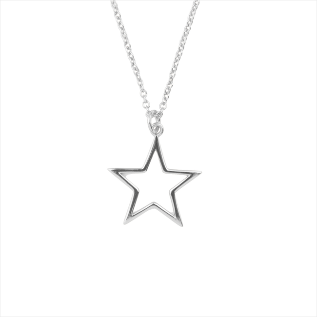 Zilveren ATLITW STUDIO Ketting SOUVENIR NECKLACE STAR - large