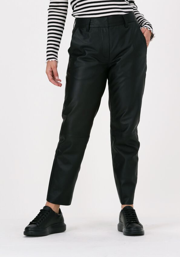 Zwarte CO'COUTURE Chino PHOEBE LEATHER CHINO  - larger
