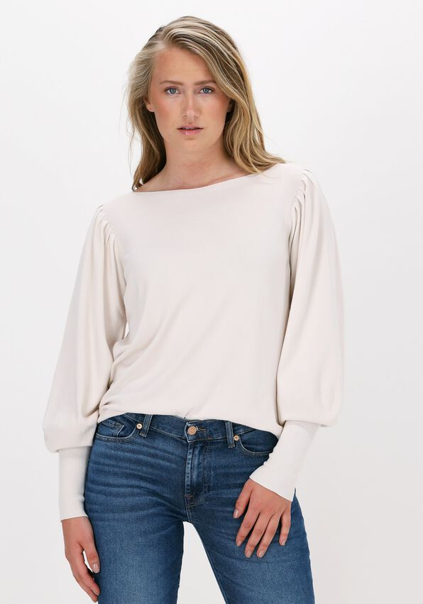 Witte SUMMUM Sweater PUFFY SLEEVE SWEATER BASIC KNIT  - larger
