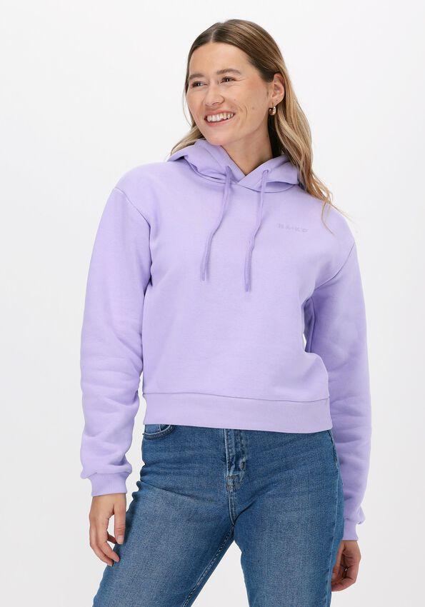 Lila NA-KD Sweater ORGANIC LOGO BASIC HOODIEA  - larger
