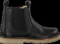 Zwarte POM POM Chelsea boots 6396Z  - medium