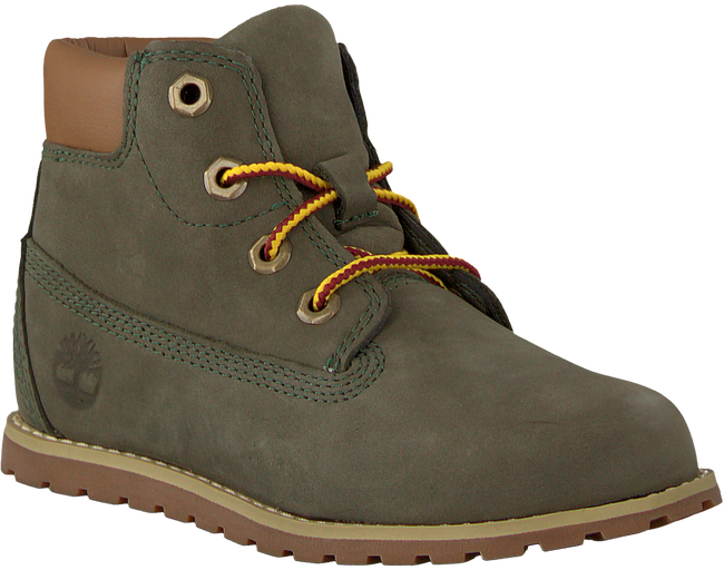 Groene TIMBERLAND Veterboots POKEY PINE 6IN BOOT KIDS - large