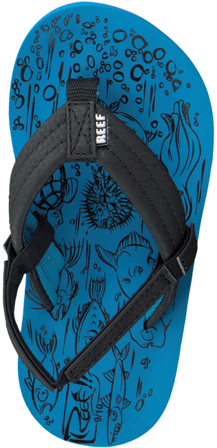 Blauwe REEF Slippers GROM REEF FOOTPRINTS  - large