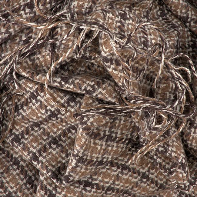 Bruine ROMANO SHAWLS AMSTERDAM Sjaal SHAWL CHECK - large