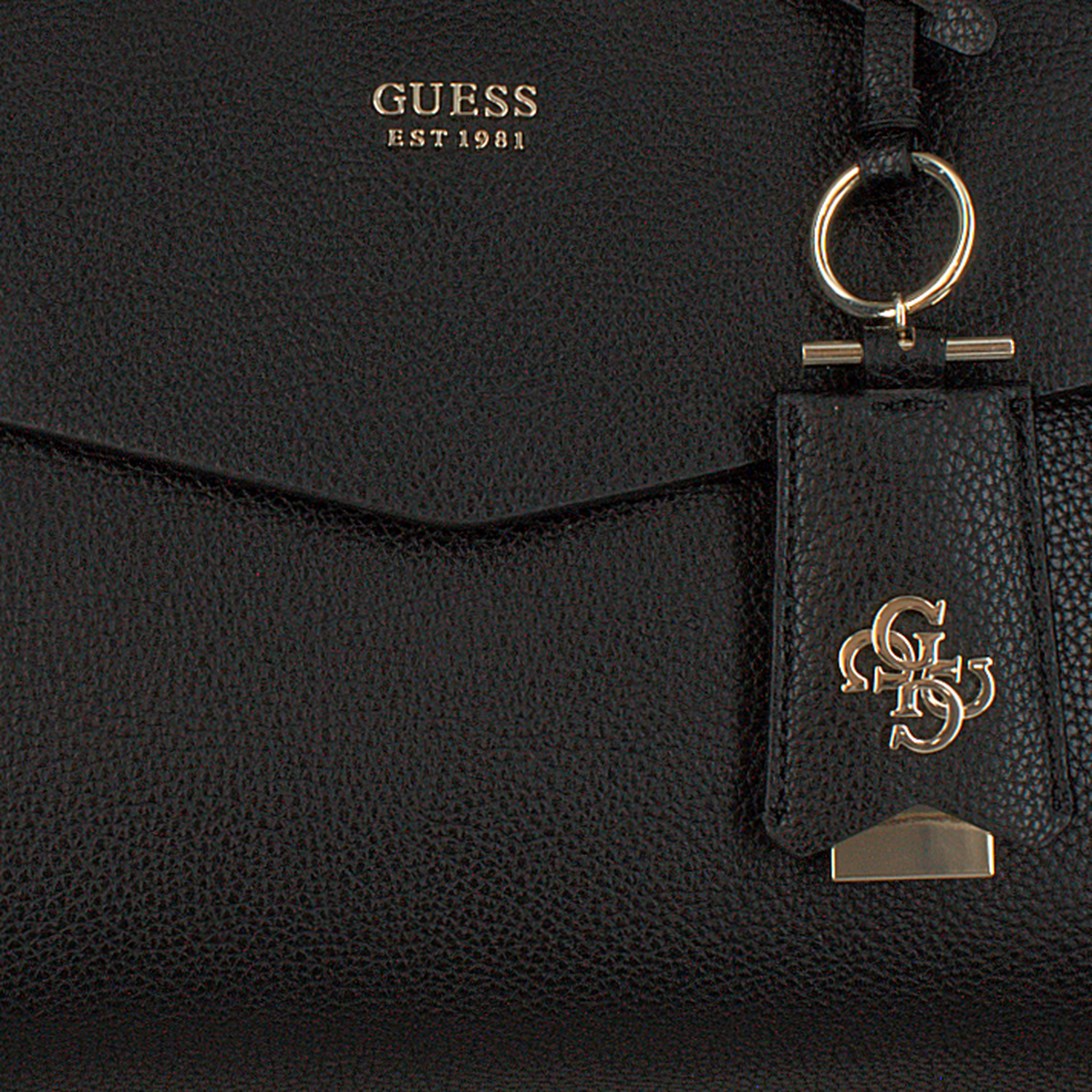 Zwarte GUESS Handtas COLETTE GIRLFRIEND SATCHEL Omoda.nl