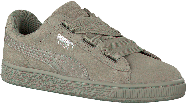 Grijze PUMA Sneakers SUEDE HEART SNK JR  - large